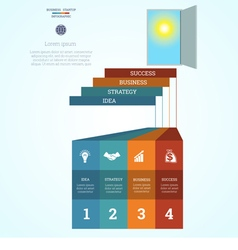Infographic template steps 4 vector