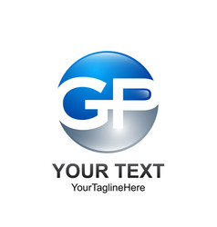 initial letter gp logo template colored blue vector image