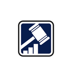 Law firm or legal office concept gavel logo vector