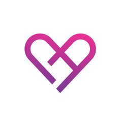 Love with abstract logo template vector