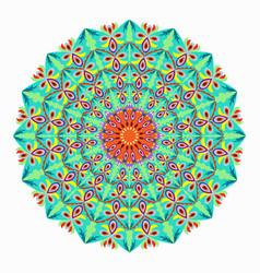 mandala colored vintage decorative elements vector image