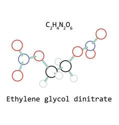 molecule ethylene glycol dinitrate c2h4n2o6 vector image