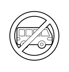No car or no parking sign prohibit traffic vector