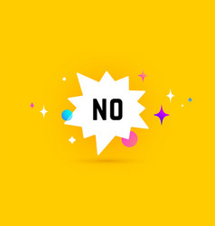 no speech bubble chat message vector image