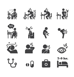 Office syndrome icon vector