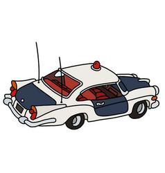Old american police car vector