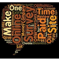 Online Survey Review text background wordcloud vector