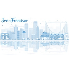 Outline San Francisco Skyline vector