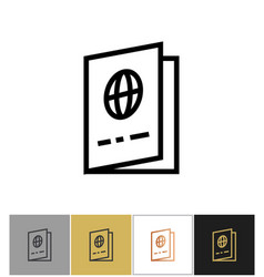 Passport icon national passports cover sign vector
