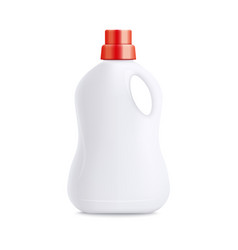 Plastic laundry detergent bottle - blank realistic vector