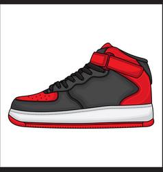 Red basketball shoe design vector