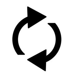 refresh solid icon rotation arrows vector image