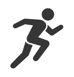 Run icon running man on white background vector