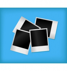 set of empty photos vector image