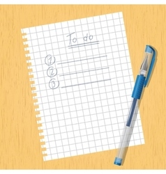 Sheet square and a pen vector image