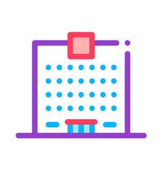 skyscraper house icon outline vector image