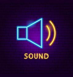 sound neon label vector image