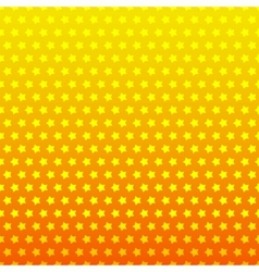 Star seamless background Yellow and orange color vector