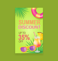 summer sale banner promotion leaflet sample vector image