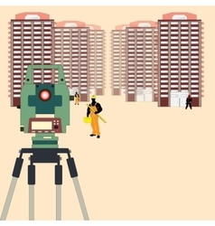 Surveying in Construction vector