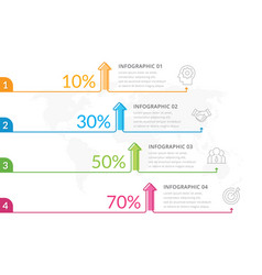 thin line infographics vector image
