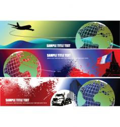 Three corporate banners vector