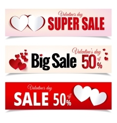 Valentines Day sale flayers vector image