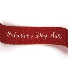 Valentines Day Sale greeting textile Ribbon vector