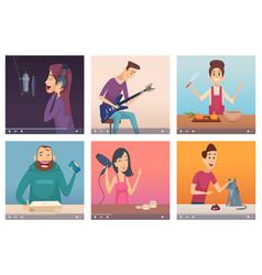 Video bloggers digital content makers multimedia vector