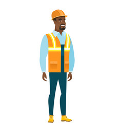 young african-american confident builder vector image