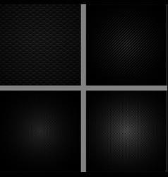 carbon fiber background set vector image