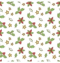 Christmas Mistletoe Seamless vector image