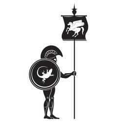 Greek warrior vector image vector image