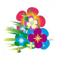 bunch of flowers vector image