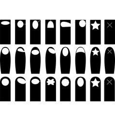 Door hangers vector image vector image