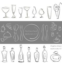elements for design restaurant menu vector image vector image