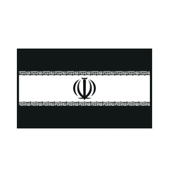 flag of Iran monochrome on white background vector image vector image