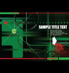 high tech grunge background vector image vector image