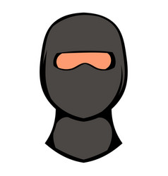 ninja mask icon icon cartoon vector image
