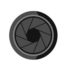 photographic objective icon flat style vector image