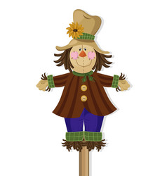 scarecrow doll cute character vector image