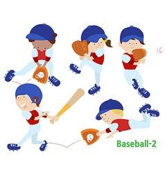 baseball 2 vector image
