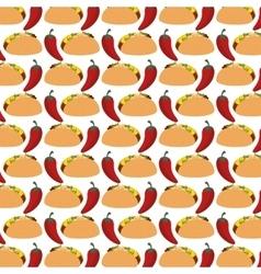burrito mexican food icon vector image