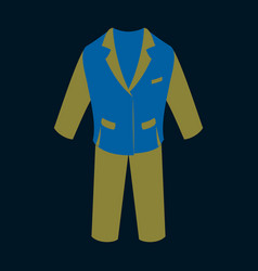 Icon in flat design fashion clothes men business vector