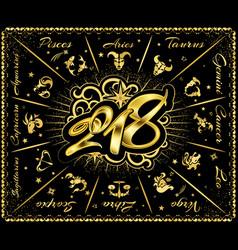 signs zodiac 2018 vector image vector image