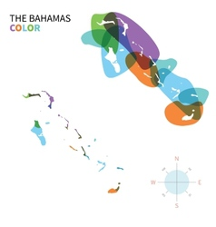 Abstract color map of Bahamas vector image vector image