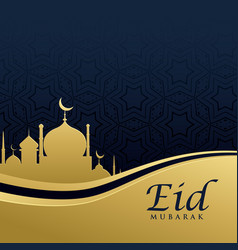 premium eid festival greeting card design in vector image vector image