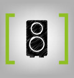 speaker sign black scribble vector image vector image