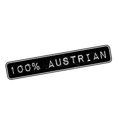 100 percent Austrian rubber stamp vector image