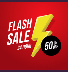 24 hour flash sale banner vector image